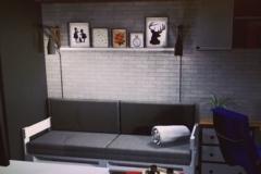 Загадочный уют за диваном