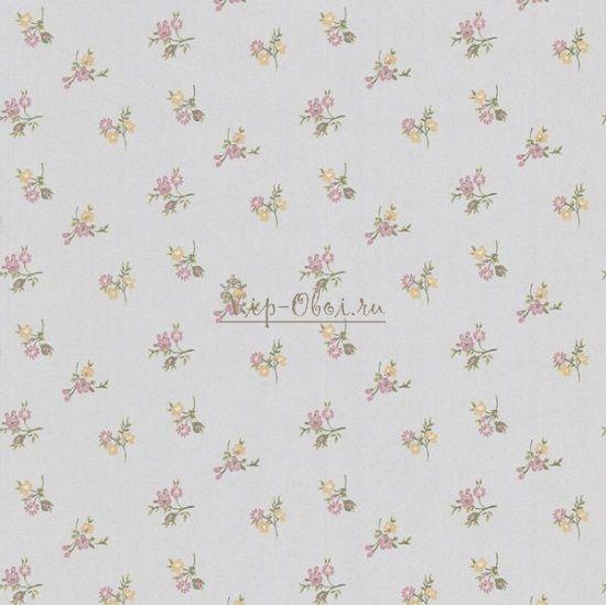 Обои Spell Bound 50-450 бренда Graham & Brown серебристые с мелким цветочным рисунком.