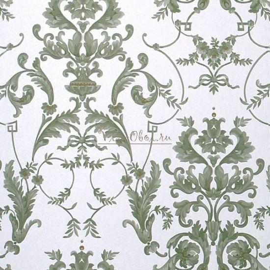 Обои Spell Bound 50-457 бренда Graham & Brown серебристые с серо-зеленым рисунком.
