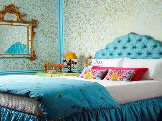Подбор обоев для спальни в стиле рококо