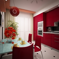 Цвет интерьера кухни: фото