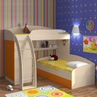 Детская двухъярусная кровать: фото